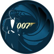 Tuvalu 007 JAMES BOND #1 Silver Coin $1 2020 Metallic finish 1 oz